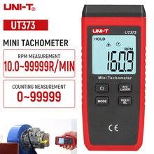 UNI-T ut373 digital tacômetro sem contato faixa de 10-99999 rpm lcd backlight display laser medidor de velocidade