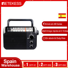 Retekess – Radio Portable TR604 FM/AM avec grand haut-parleur, récepteur alimenté par batterie AC ou D, cadran clair, grand bouton pour la maison des personnes âgées