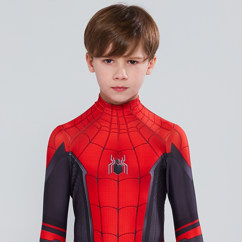 Cosplay Costume Jumpsuits Bodysuit Spiderman Parker Superhero Kids Peter Zentai Far Home