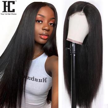 Koronkowa peruka na przód brazylijskie proste włosy ludzkie peruki Glueless 150 wstępnie oskubane szwajcarska koronka Remy peruka z prostymi włosami z dziecięcymi włosami tanie i dobre opinie Remy Ludzki Włos Lace Front Wig Średnia wielkość
