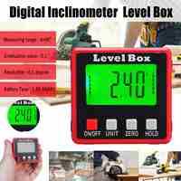 Precisioni Digitale Goniometro Inclinometro 360 Display LCD Bevel Level Box Angle Finder Meter Angolo di Calibro Con Base Magnetica