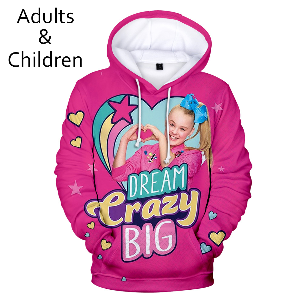Popular Funny Trendy JOJO SIWA 3D Hoodies Sweatshirts Boys/Girls Long Sleeve Hoodie Fashion Casual Children Sweatshirt Pullover