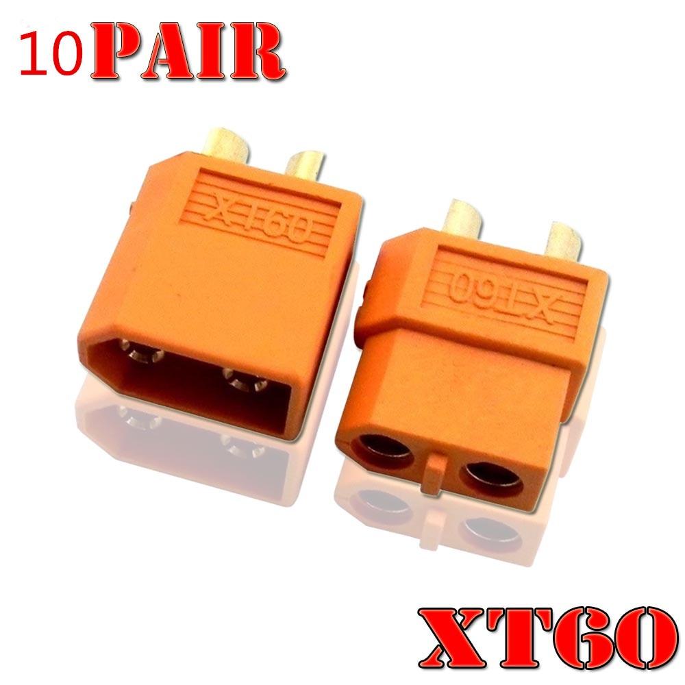 10 pares de XT60 XT-60 XT 60 enchufe macho hembra conectores de bala enchufes para RC Lipo batería Quadcopter Multicopter