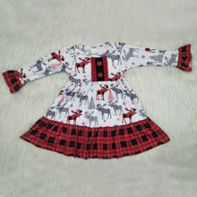 Autumn Baby Girl Dresses Long Sleeve Christmas Deer Casual Dress & Skirt Party  Princess Newborn Costume