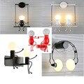 Настенный светильник с машинным злодеем  современный минималистичный креативный прикроватный настенный светильник для спальни  коридора  ...