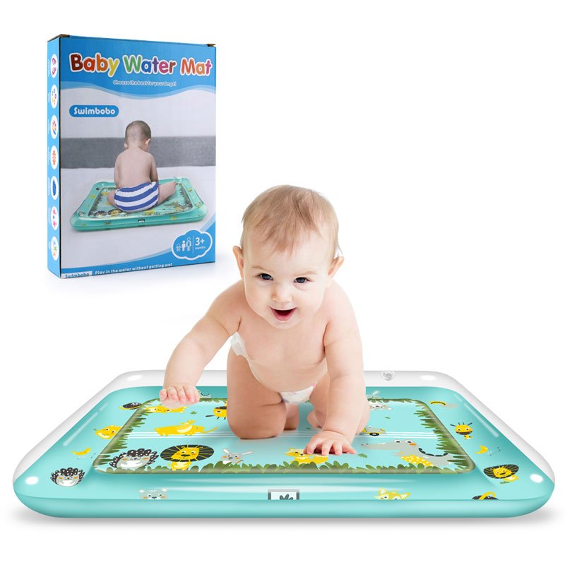Tummy Time Play Mat Inflatable Baby Water Mat Infant Baby Mat Fun Activity Play Toddlers Toys For 3-12 Months
