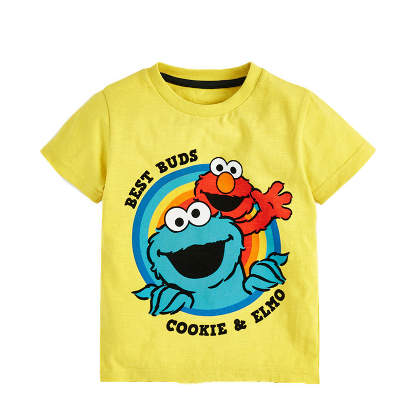 Ha16610db0f24496d967a4f195b167aae8 jumping meters Baby Boys Cartoon T shirt Kids New Tees Short Sleeve Summer Clothes With Printed Dinosaurs Children T shirts