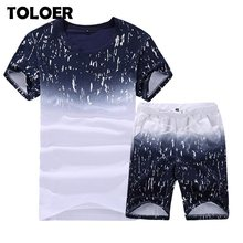 Summer New Men's Shorts Casual Suits Sportswear Mens Clothing Man Tracksuit Sets Pants Male sweatshirt Men Brand Clothing 4XL(China)