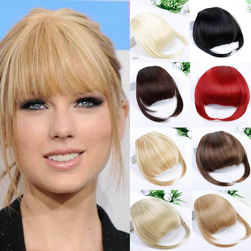 Женские синтетические накладные пряди DIANQI, имитация челок на клипсе, каштановые Когти для наращивания волос, блонд Челки из синтетики    АлиЭкспресс