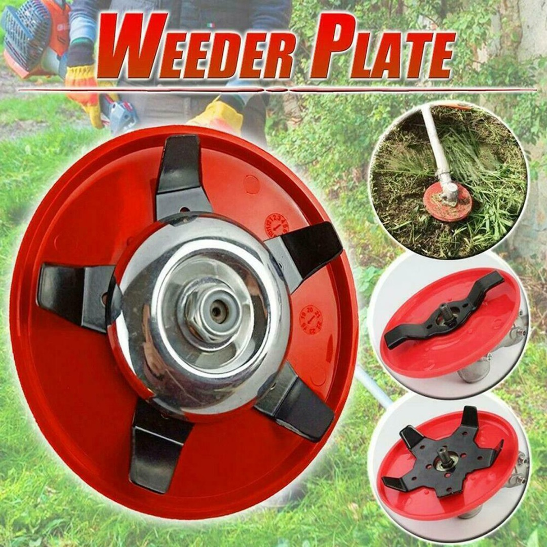 5 Blades Cutter Head Grass Trimmer Weed Brush Cutting Head Garden Power Tool Accessories For Lawn Mower