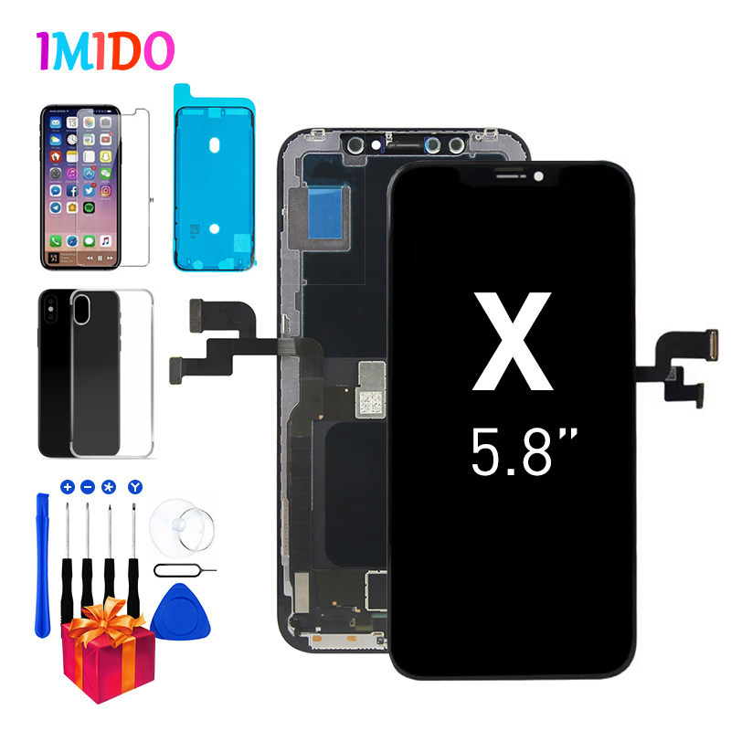 OLED Screen For <font><b>iPhone</b></font> X Display For <font><b>iPhone</b></font> 10 LCD with 3D Touch Digitizer Assembly 1:1 Perfectly OEM A1901 <font><b>A1865</b></font> + Free Gifts image