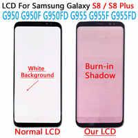 Écran LCD d'origine 5.8 ''pour Samsung Galaxy S8 S8 plus G950 G950F G950fd G955F G955 écran Lcd ombre à graver + numériseur d'écran tactile