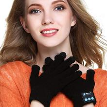 Bluetooth Gloves, Wireless Bluetooth Gloves, Winter Gloves Touch Screen with Built-in Stereo Speakers, Removable Headphones