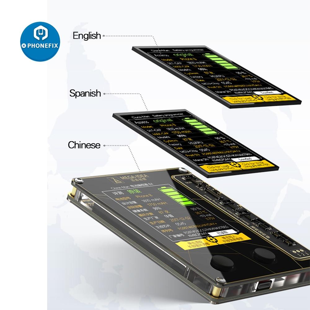 MEGA-IDEA Qianli Battery Repair Programmer For IPhone 5 6 7 8 X XS MAX XR Battery Data Write Read Battery Tester Data Transfer