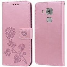 Luxo couro flip book caso para huawei nova inteligente nova lite 2017 mais jovem flor rosa carteira suporte caso capa de telefone saco