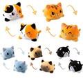 Neue Doppelseitige Flip Katze Gato Kinder Weichen Geschenk Plushie Plüsch Tiere Doppelseitig Flip Puppe Niedlichen Spielzeug für Pulpos Kid Mädchen