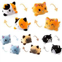 Poupée à rabat Double face pour enfants, chat Gato, peluche douce, animaux en peluche, jouets mignons pour filles, cadeau, nouvelle collection