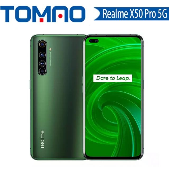 Realme X50 Pro 5G mobile phone Snapdragon 865 Octa Core 12GB RAM 256GB ROM 4200mAh 65W Fast Charger OTA Update NFC googleplay 1