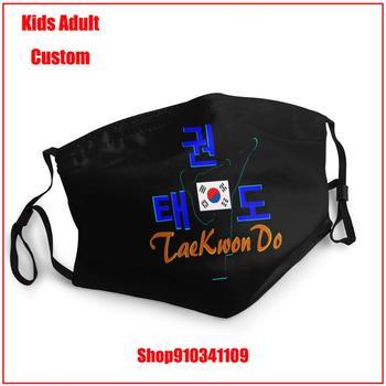 Latest popularity DIY face mask fashion mask for face masks TaeKwonDo Master Korean Martial Art Kids adult men women