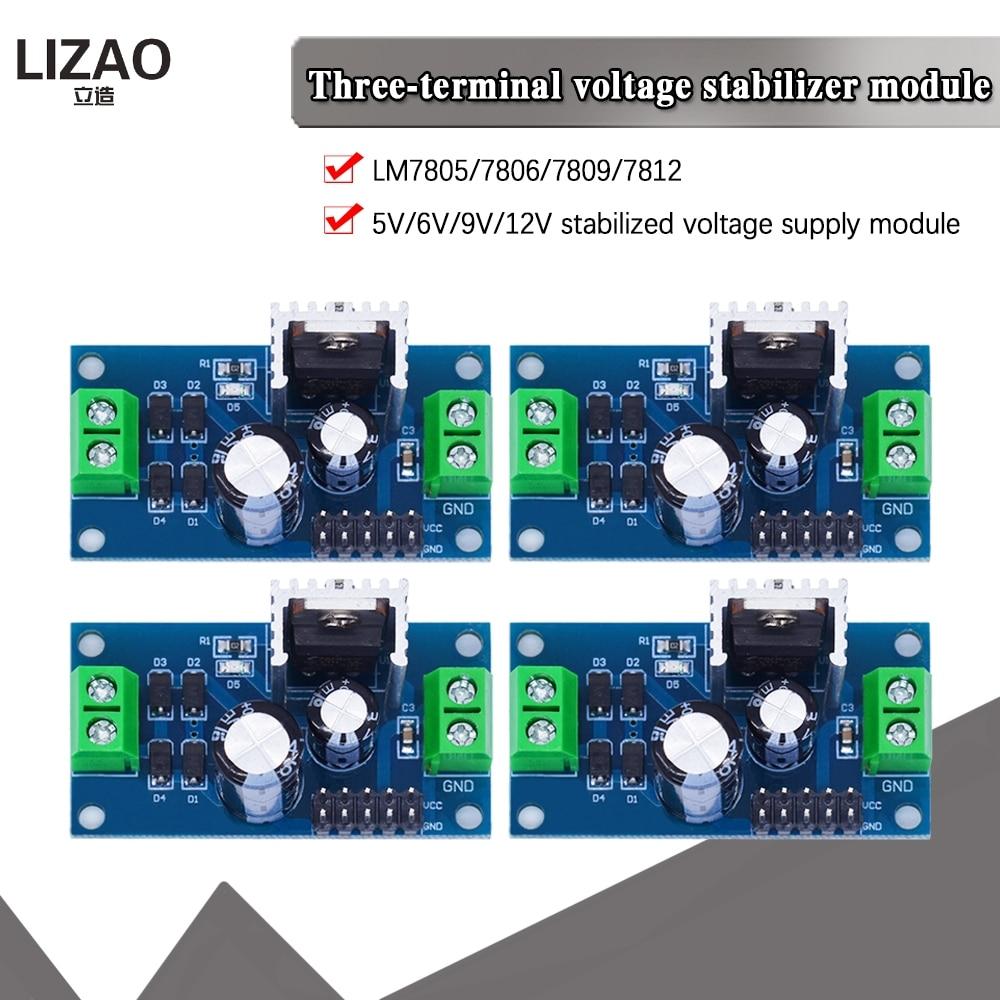 LM7805 LM7806 LM7809 LM7812 Dc/Ac Drie Terminal Voltage Regulator Voeding Module 5V 6V 9V 12V Uitgang Max 1.2A