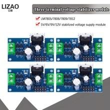Lm7805 lm7806 lm7809 lm7812 dc/ac três módulo terminal da fonte de alimentação do regulador de tensão 5 v 6 v 9 v 12 v saída máxima 1.2a