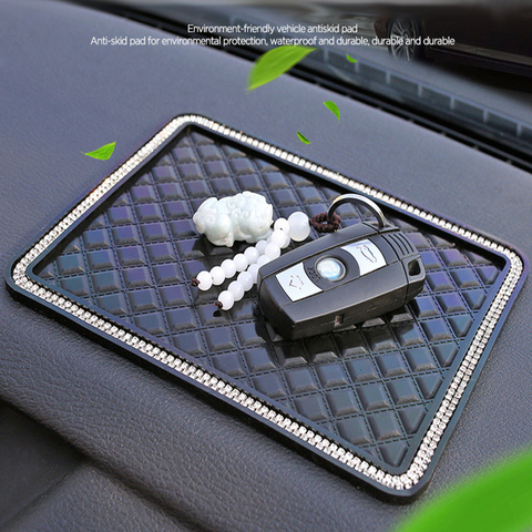 Car Anti Slip Mats Black Auto Dashboard Sticky Anti-skid Pads Phone MP3 GPS Sunglasses Keys Holder Mount Bracket Gadgets Styling Pakistan