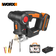 Worx 20V Electric Saw WX550 Cordless Reciprocating Saw jigsaw 2in1 Rechargeable Scroll Saw Multi purposed saw Handheld PowerTool