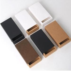 Image 2 - Scatole dimballaggio del sapone fatto a mano dei gioielli neri bianchi del contenitore di regalo del tipo del cassetto della carta Kraft per la caramella della festa nuziale
