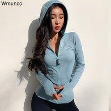 Wmuncc энергетическая бесшовная куртка для бега Женская толстовка