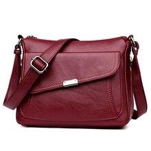 สไตล์ฤดูร้อน 2020 Bolsasหนังนุ่มกระเป๋าถือหรูผู้หญิงออกแบบกระเป๋าMulti Pocket Crossbodyไหล่กระเป๋าผู้หญิงSac