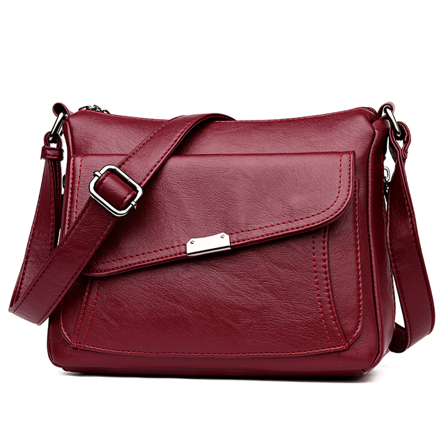 Summer Style 2020 Bolsas Soft Leather Luxury handbags Women bags Designer Multi pocket Crossbody Shoulder Bags For Women Sac