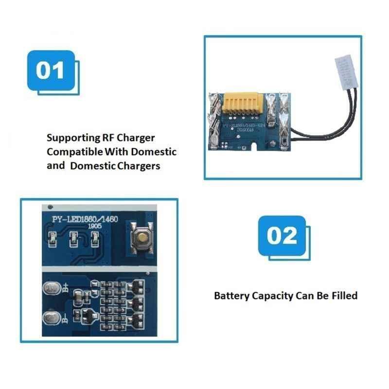 Batería de 18V Chip Placa de PCB de repuesto para BL1830 BL1840 BL1850 BL1860