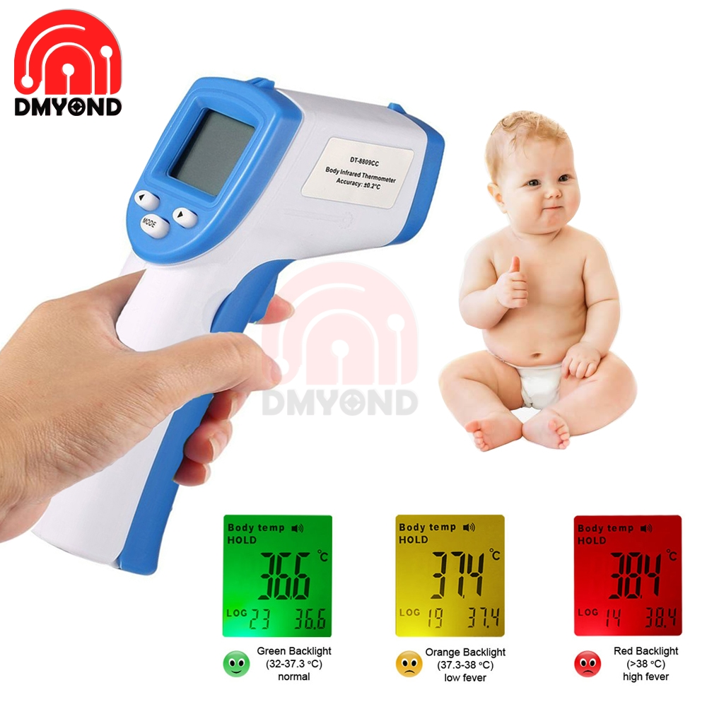 Digital LCD Non-contact IR Infrared Thermometer Forehead Body Surface Temperature Measurement Data Hold Function Baby Convenient