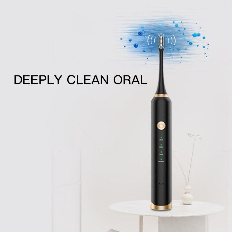 de escova de dentes para adultos, limpador clareador de dentes