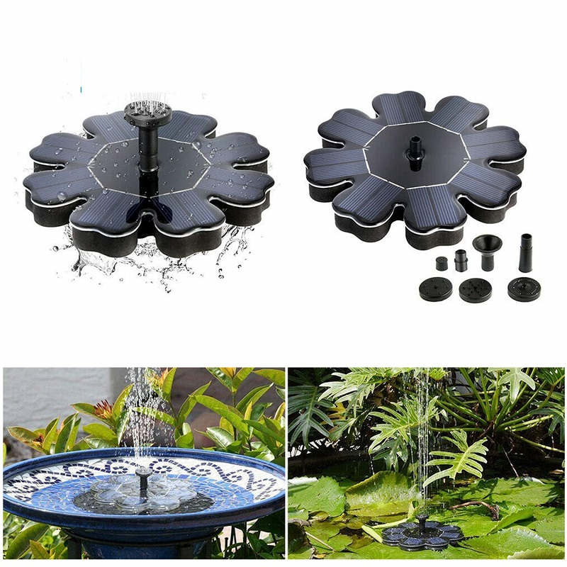 Marine Water Pump Floating Solar Power Fountain Pond Pool Water Pump For Garden Bird Bath Tank