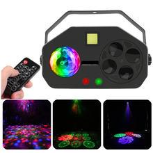Светодиодный диско вечерние светильник дистанционный rgb 4 в