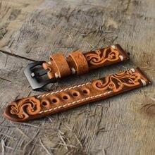 Ремешок ручной работы из натуральной кожи для мужских часов