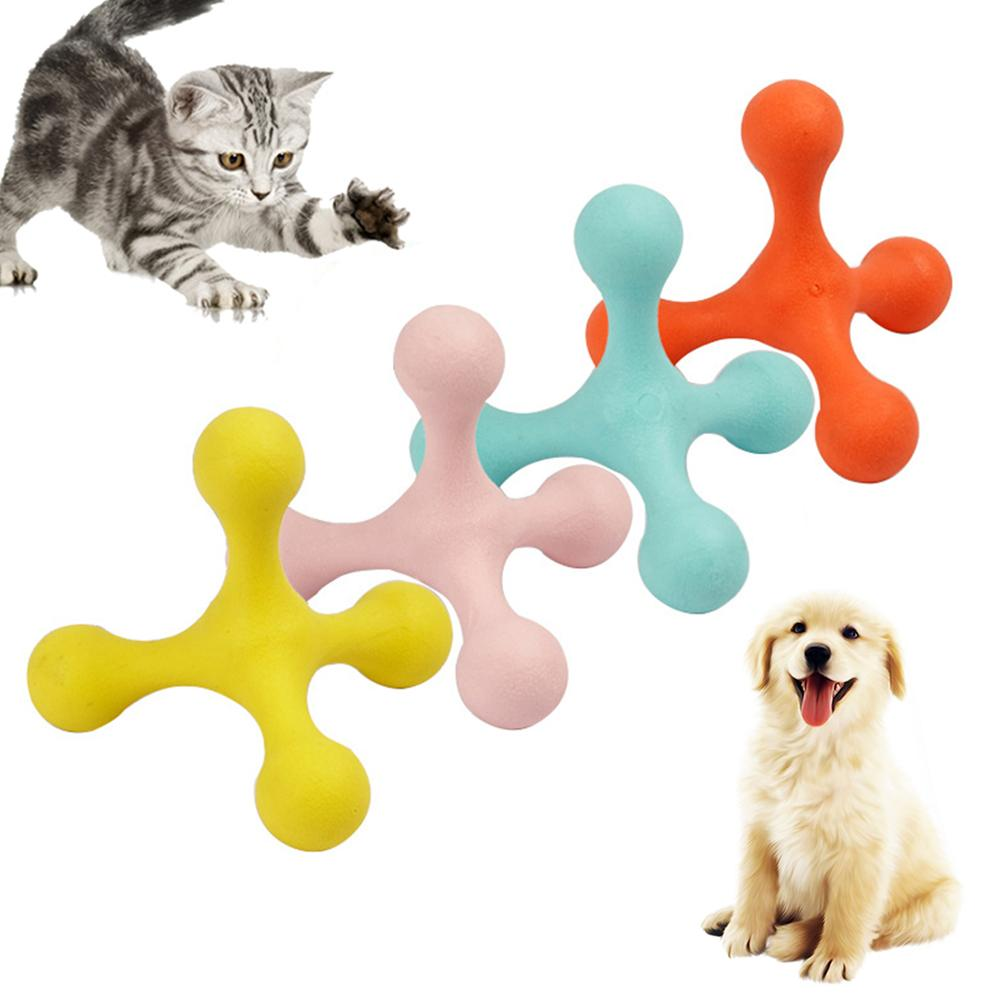Pet  Dog Toys Dogs Cats Funny Rubber Chew Toy Tripod Molar Non-toxic Interactive Chew Play Toy Cats Dog Supplies Pet Products лампа