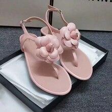 2020 New Arrival Flower Docoration Women Sandals Runway Brand Genuine Leather Fl