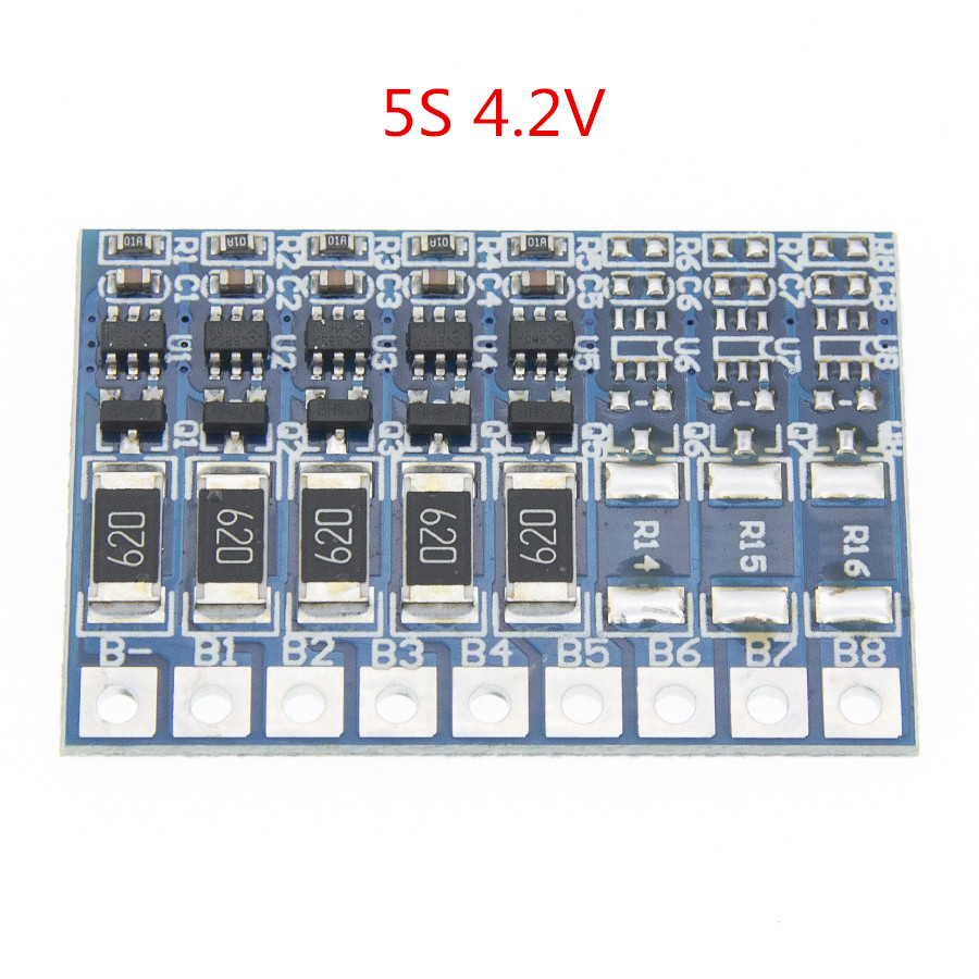 10PCS 5S 21V 4.2V Balance Function Protection 68mA Li-ion Lipo Battery Lithium 18650 Batteries Balanced Module BMS PCB image