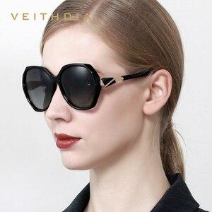 Image 3 - VEITHDIA TR90 damskie okulary przeciwsłoneczne spolaryzowane gradientowe szkła luksusowe damskie designerskie okulary przeciwsłoneczne okulary damskie 3171