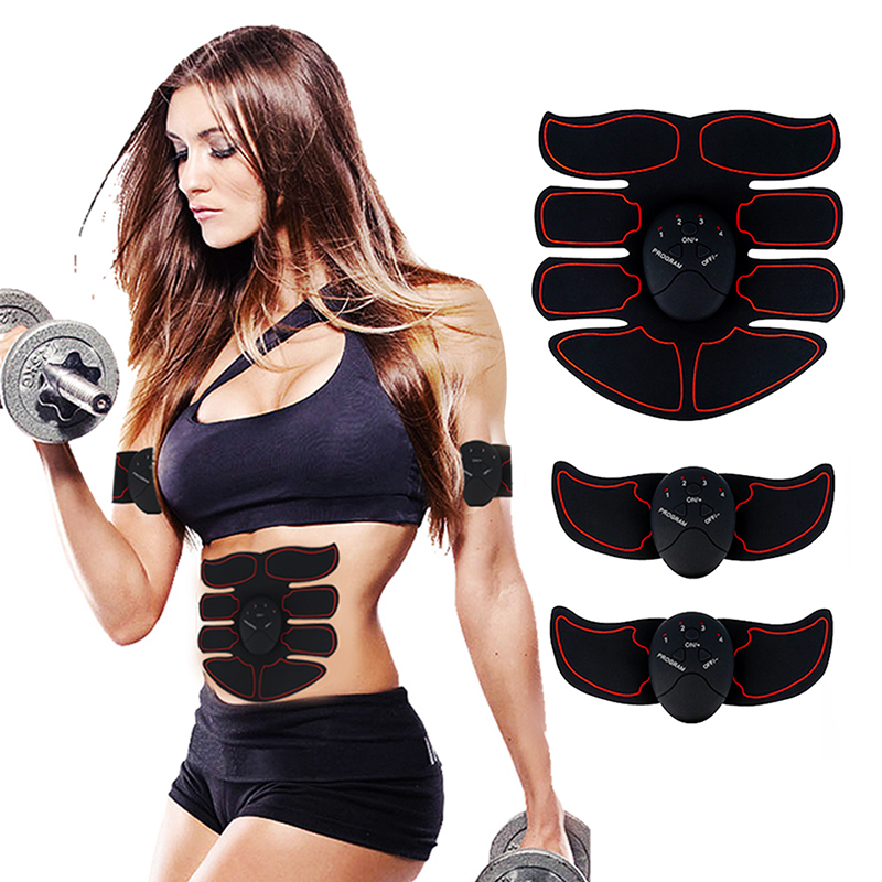 Smart Muscle Stimulator EMS Abdominal Electric Trainer Body Building Fitness for Abdomen/Arm/Hip Training ABS Exercise Set