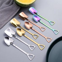 Spoon Kitchen Gadget Iron-Shovel Coffee-Ice-Cream 304-Stainless-Steel with Hook 3colors