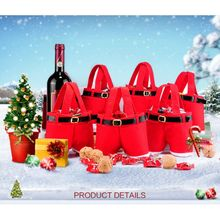 Gift Bags Christmas Decorations Candy Bags Santa Pants Style
