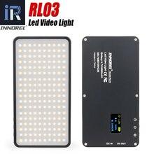 INNOREL RL03 LED صغيرة محمولة رقيقة جدا أضواء التصوير في الهواء الطلق السفر بطارية المحمول 4500 mAh لايف فيديو ملء ضوء