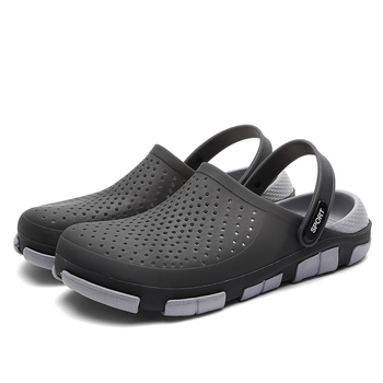 New Summer Jelly Shoes High Quality Men's Casual Shoes Fashion Beach Sandals Hollow Slippers Men Flip Flops Light Sandals 2020 summer slippers casual style jelly shoes women sandals flat slippers fashion holiday beach sandals women flip flops size 40