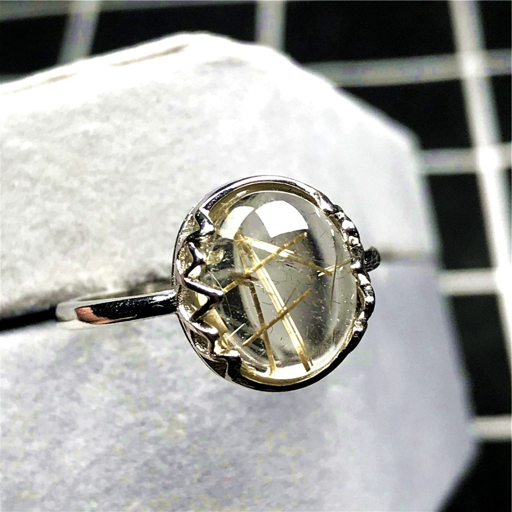 Gold Rutilated Ring (53)