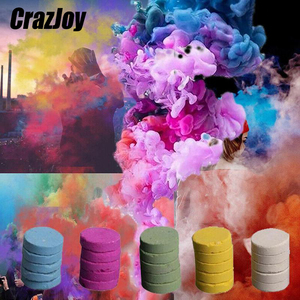 Colored Smoke Magic Tricks Smoke Cake Props Fire Tips Fun Toy Pills Colorful Fog For Magician Show Photography Portable Supplies