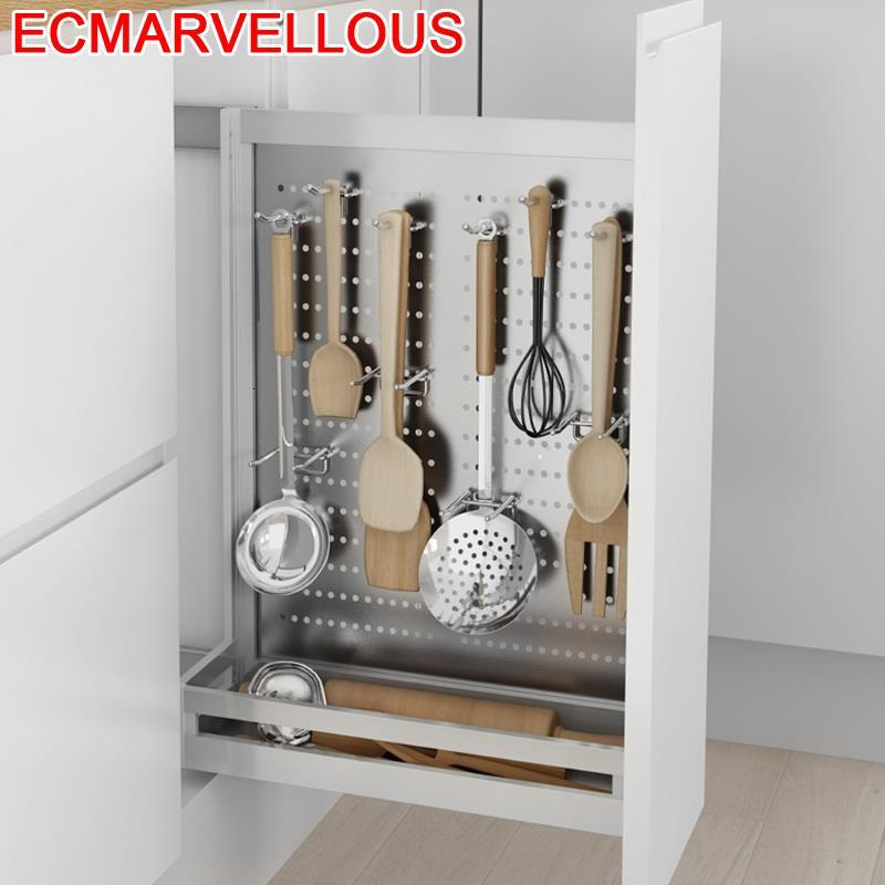 Accessories Drawer For Cupboard Rangement Cuisine Pantry Stainless Steel Cocina Cozinha Organizer Kitchen Cabinet Storage Basket