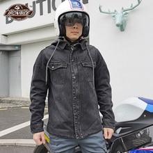 Denim Motorrad Jacke Männer Motocross Jeans Tragbare Chaqueta Moto Motocross Jacke Reiten Racing Jacke Mit 5 stücke CE Schutz